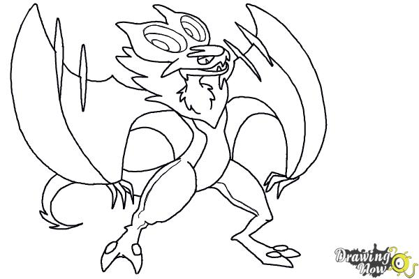 How to Draw Noivern from Pokemon