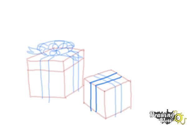 How to Draw Christmas Presents - Step 10