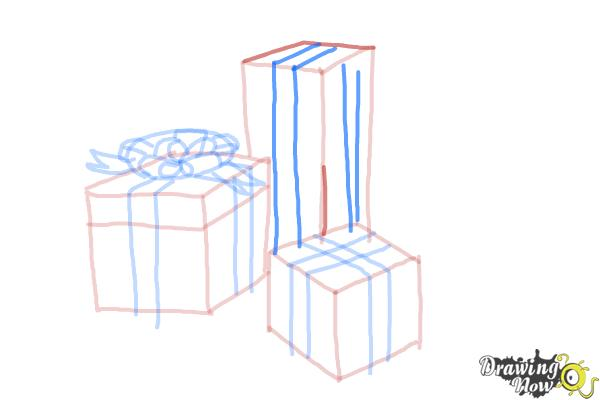 How to Draw Christmas Presents - Step 12