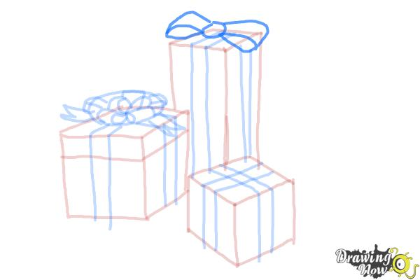 How to Draw Christmas Presents - Step 13