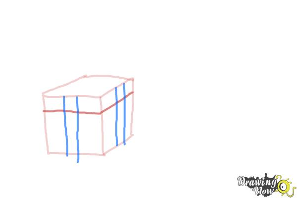 How to Draw Christmas Presents - Step 4