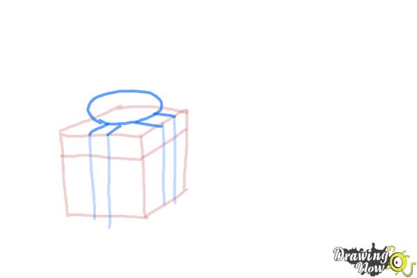 How to Draw Christmas Presents - Step 5