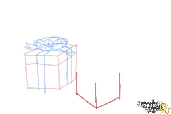How to Draw Christmas Presents - Step 8