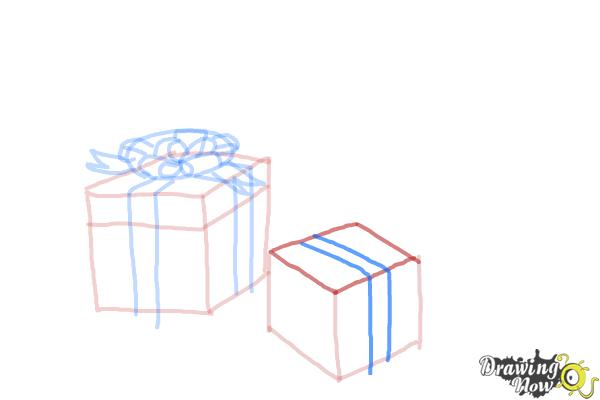 How to Draw Christmas Presents - Step 9