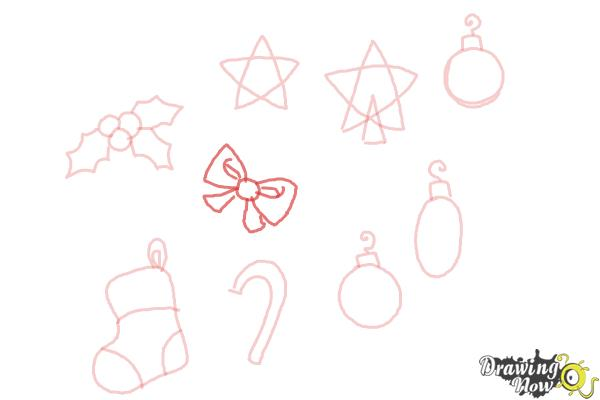 How to Draw Christmas Decorations - Step 10