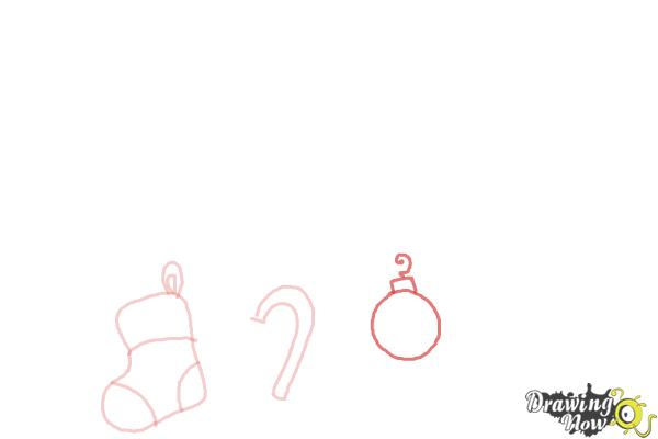 How to Draw Christmas Decorations - Step 4