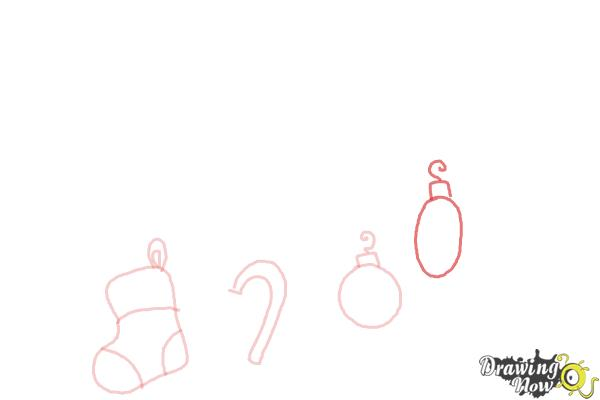 How to Draw Christmas Decorations - Step 5