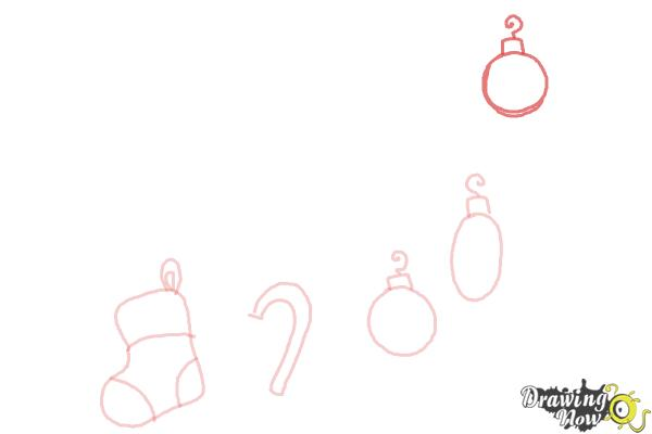 How to Draw Christmas Decorations - Step 6