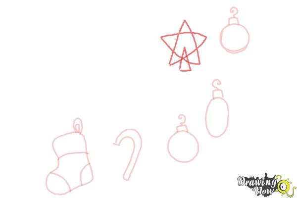 How to Draw Christmas Decorations - Step 7