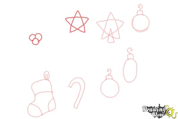 How to Draw Christmas Decorations - Step 8