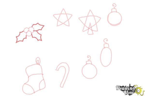 How to Draw Christmas Decorations - Step 9