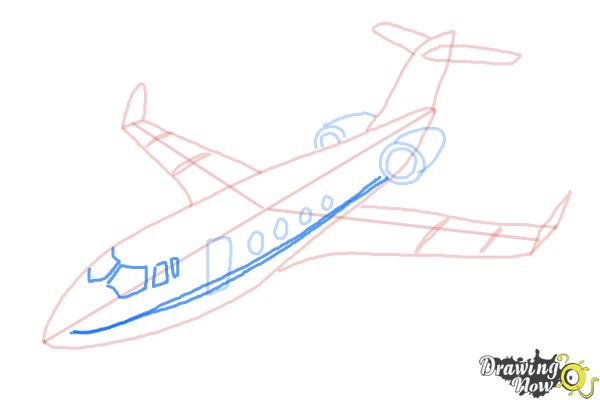 How to Draw a Airplane - Step 10