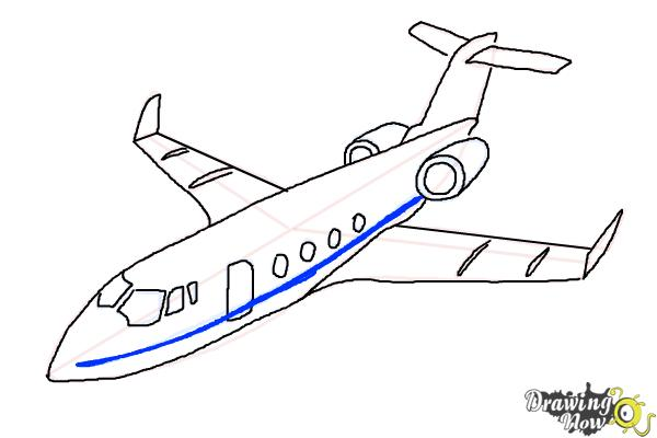 How to Draw a Airplane - Step 11