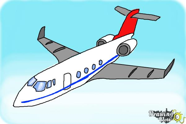 How To Draw A Airplane Drawingnow