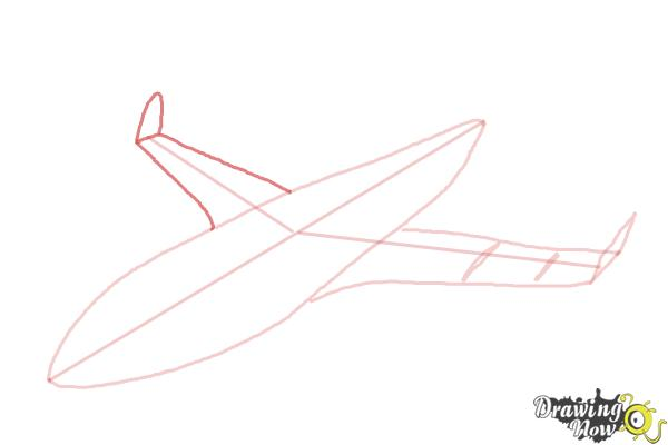 How to Draw a Airplane - Step 6