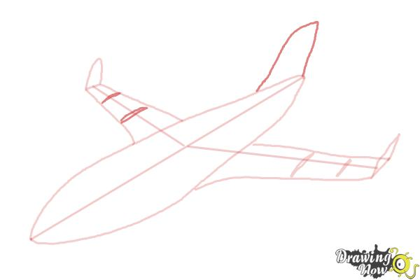 How to Draw a Airplane - Step 7