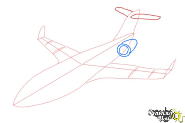How to Draw a Airplane - Step 8