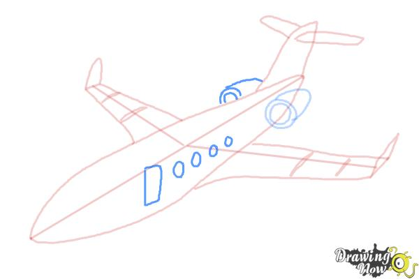 How to Draw a Airplane - Step 9