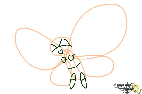 How To Draw Vivillon From Pokemon X amp Y DrawingNow