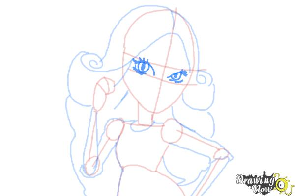 How to Draw Viperine Gorgon from Monster High - Step 10