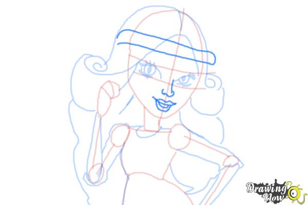 How to Draw Viperine Gorgon from Monster High - Step 11
