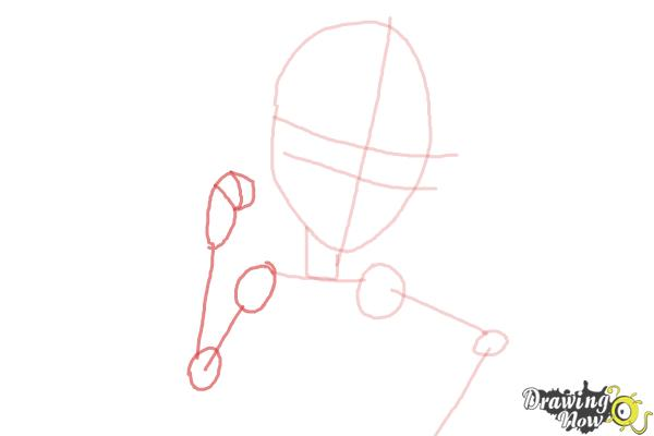 How to Draw Viperine Gorgon from Monster High - Step 4