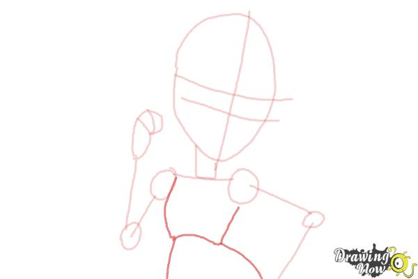How to Draw Viperine Gorgon from Monster High - Step 5