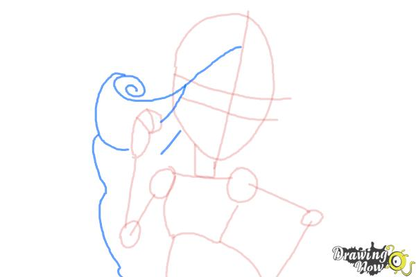 How to Draw Viperine Gorgon from Monster High - Step 6
