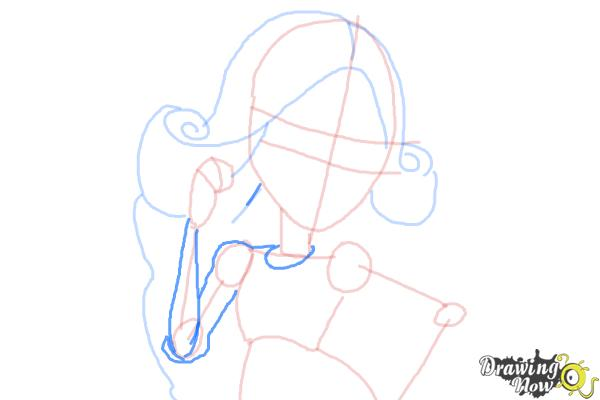 How to Draw Viperine Gorgon from Monster High - Step 8