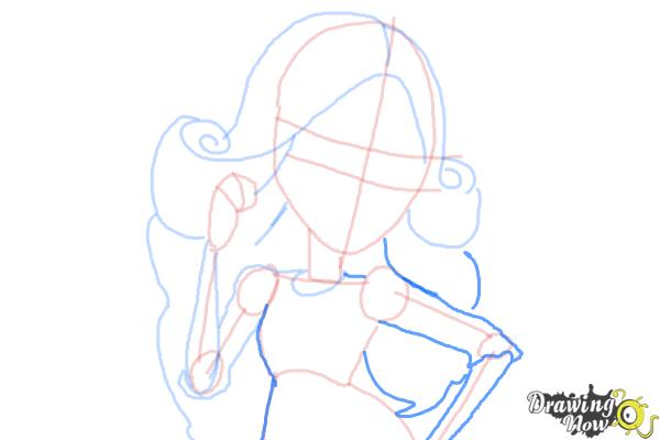How to Draw Viperine Gorgon from Monster High - Step 9