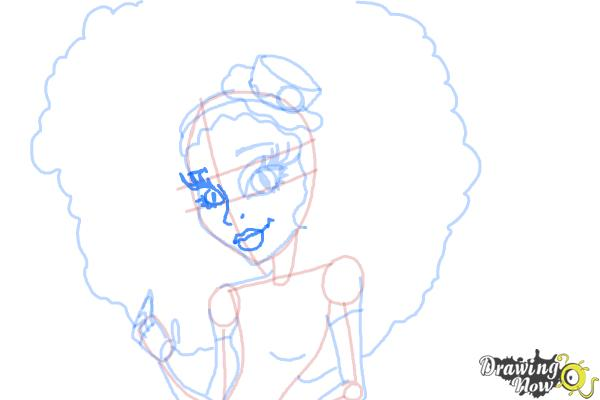 How to Draw Honey Swamp from Monster High - Step 10