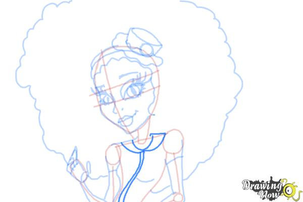 How to Draw Honey Swamp from Monster High - Step 11