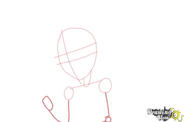 How to Draw Honey Swamp from Monster High - Step 4