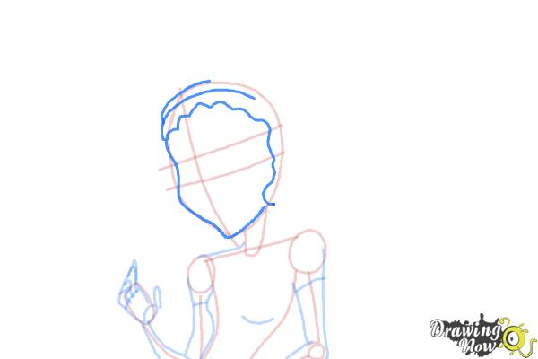 How to Draw Honey Swamp from Monster High - Step 7