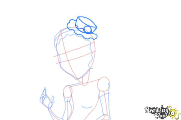How to Draw Honey Swamp from Monster High - Step 8
