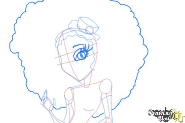 How to Draw Honey Swamp from Monster High - Step 9