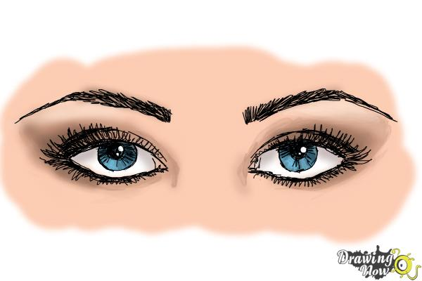 How to Draw Eyes Step by Step - Step 10
