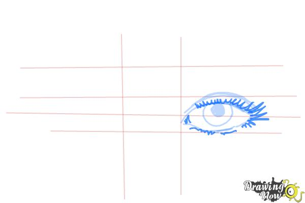 How to Draw Eyes Step by Step - Step 5