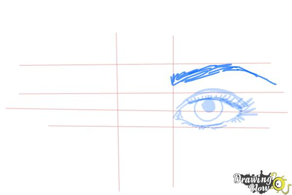 How to Draw Eyes Step by Step - Step 6