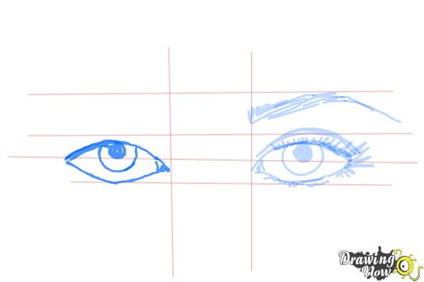How to Draw Eyes Step by Step - Step 7