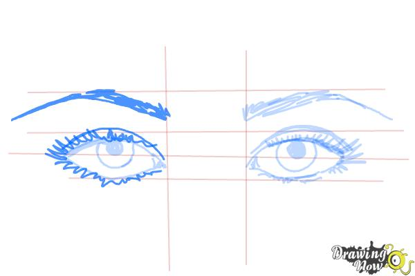How to Draw Eyes Step by Step - Step 8