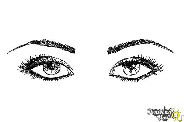 How to Draw Eyes Step by Step - Step 9