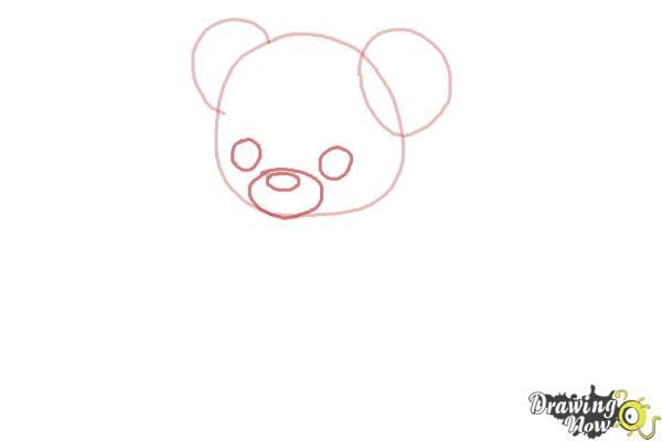 How to Draw a Bear for Kids - Step 2