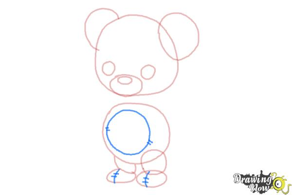 how to draw a bear step by step for kids