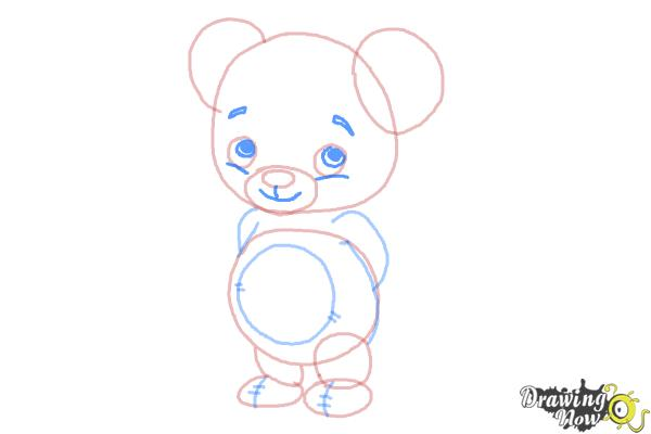 How to Draw a Bear for Kids - Step 6