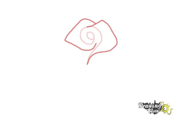 How to Draw a Beautiful Rose - Step 2