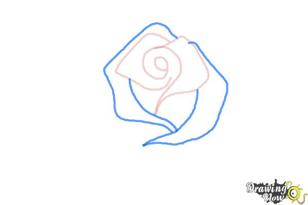 How to Draw a Beautiful Rose - Step 3