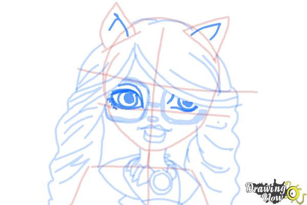 How to Draw Clawdia Wolf from Monster High - Step 10