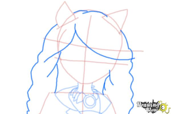 How to Draw Clawdia Wolf from Monster High - Step 7