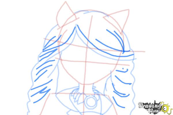 How to Draw Clawdia Wolf from Monster High - Step 8